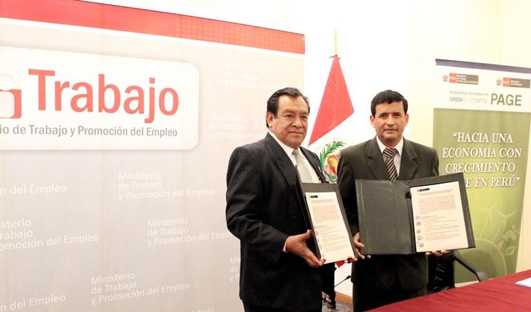 MINISTERIO DE TRABAJO E INKA TERRA PROMOVERÁN EMPLEOS VERDES EN EL SECTOR TURISMO