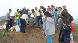 Arborizaciones se llevan a cabo a través del Programa Ambiental Comunitario que dirige la Asociación UNACEM, organización de Responsabilidad Social Corporativa de UNACEM. Durante  2015 se han realizando cinco intervenciones en diferentes zonas de Pachacámac, Lurín y Villa María del Triunfo.