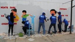 Los voluntarios de P&G participaron en el evento de voluntariado interempresas  organizado por United Way Perú, en el colegio 7055 Tupac Amaru II  ubicado en Villa Maria del Triunfo.