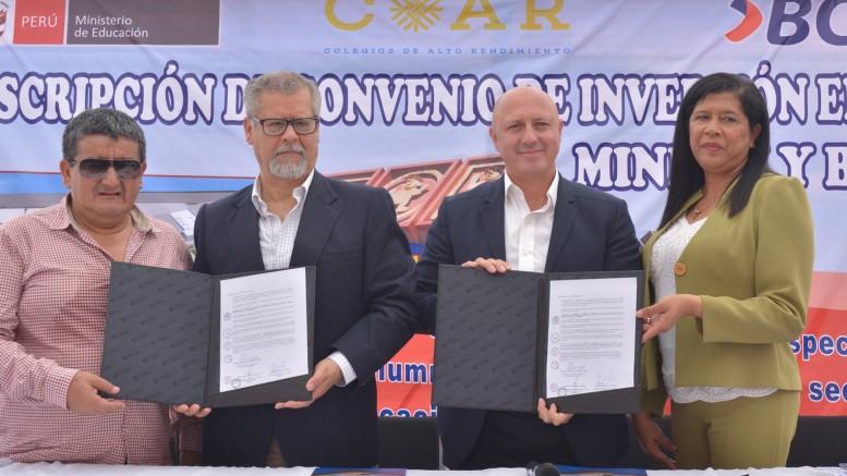 Firma Convenio - COAR Lambayeque