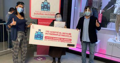 RIPLEY ENTREGA CERCA DE 9 MIL BOTELLAS DE PLÁSTICO A CIUDAD SALUDABLE